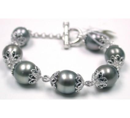 Pearl and diamond Bracelet-KW043W